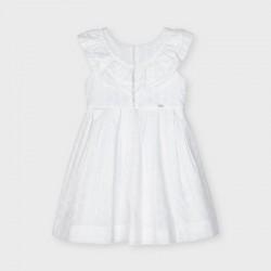 3917 Vestito popeline traforato bianco