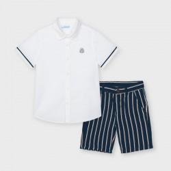 3244 Completo bermuda lino camicia