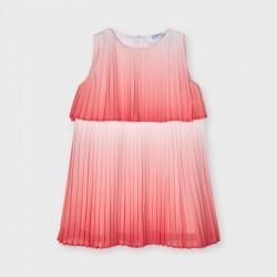 3951 Vestito tie dye plissettato